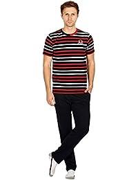 Nightwear For Men - Night Suit - Tshirt & Pyjama Combo Set - Sinker Material - Red Color - Half Sleeves - Branded...