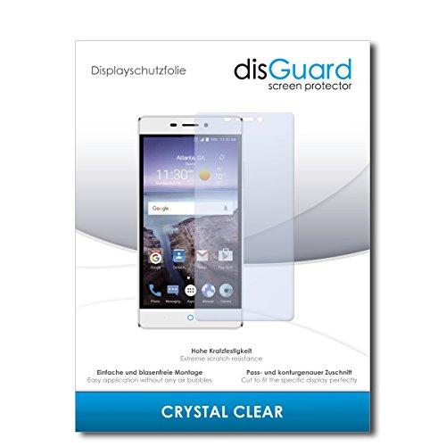disGuard® Bildschirmschutzfolie [Crystal Clear] kompatibel mit ZTE Blade V580 [2 Stück] Kristallklar, Transparent, Unsichtbar, Extrem Kratzfest, Anti-Fingerabdruck - Panzerglas Folie, Schutzfolie