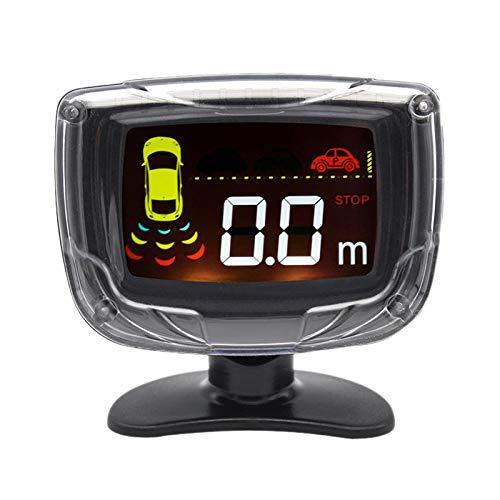 CUHAWUDBA 4 Sensoren 22Mm LCD Hintergrund Beleuchtungs Anzeige Parkplatz Sensor RüCkunter StüTzungs Radar Ultraschall Detektor Parktronic -