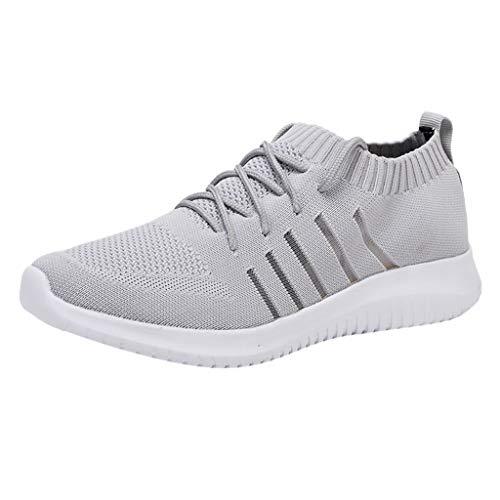 CUTUDE Damen Herren Sneaker Laufschuhe Air Sportschuhe Turnschuhe Running Fitness Sneaker Outdoors Straßenlaufschuhe Sports Kletterschuhe 39EU-48EU (Grau, 40 EU) (Jordan Air Boys 3 Retro)