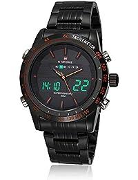 NAVIFORCE NF9024 Reloj de Hombres Cuarzo de Doble Tiempo Reloj Deportivo con Función de Cronómetro de Alarma de Retroiluminación Cronómetro