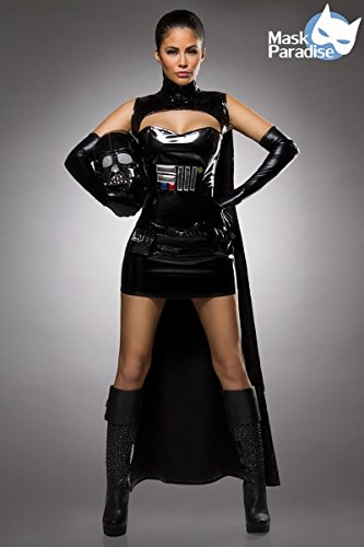 Shirt Kostüm Yoda - Atixo Dark Lord Komplettset - schwarz, Größe Atixo:S-M