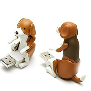 E.life USB 2.0 Humping Dog 8GB Memory Stick Automatic Flash Drive Disk Spot Dog USB Gadgets Funny Novel Christmas Cute Gift Pet Toy