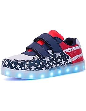 Envio 24 Horas Usay like Zapatillas LED Con 7 Colores Luces Carga USB America Unisex Niños Talla 25 hasta 34 Envio...