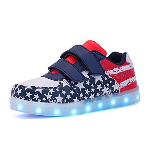 Envio-24-Horas-Usay-like-Zapatillas-LED-Con-7-Colores-Luces-Carga-USB-America-Unisex-Nios-Talla-25-hasta-34-Envio-Desde-Espaa