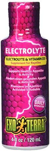 Exo Terra Electrolyte & Vitamine D3 - Ergänzungsfutter fur Reptilien 120ml (Terra Exo Reptilien)