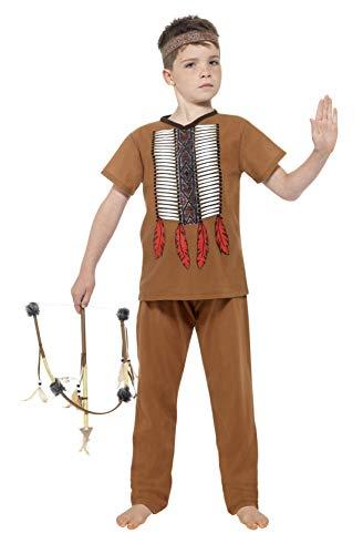 Smiffys 24664S - Jungen Indianer Kostüm, Alter: 4-6 Jahre, Größe: S, braun - Kostüm 5 Alten Jahre