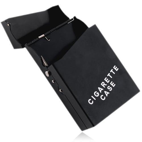 Ecloud Shop Alu Zigarettenetui Zigarettendose Zigaretten Etui Case (Push-knopf-bedienung)