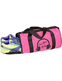 TRIAGE Gym Bag (PINK) Branded Premium Quality Carry On Sports Travel Duffel Bags With Shoulder Strap, Zippered...