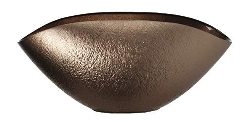 Leonardo 053319 Como Coque 28 x 14 Bronzo, Verre, Marron, 14 x 28 x 13 cm
