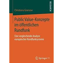 Public Value-Konzepte im öffentlichen Rundfunk: Eine vergleichende Analyse europäischer Rundfunksysteme