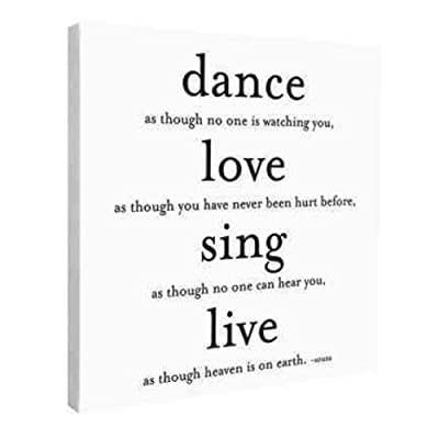 Dance Love Sing Live Wall Canvas