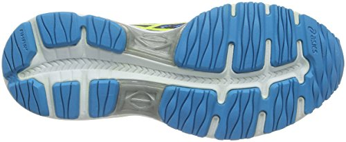 Asics Gel-Cumulus 18 Gs, Chaussures de Sport Mixte Enfant Bleu (Island Blue/Safety Yellow/Black)