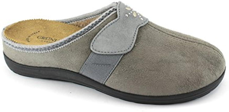 GRUNLAND CELY CI2244 Zapatillas de Tela Gris Mujer Plantilla Extraíble