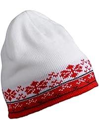 Euro Fair Isle Beanie Hat Warm Woolly Cap in 5 Colours Ideal Winter Ski