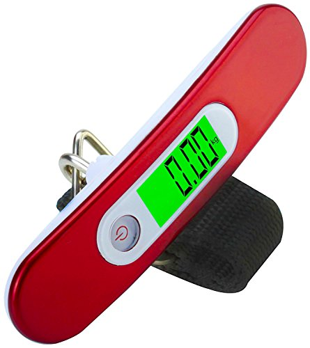 Travel-Buddy-Luggage-Scale-LS2-2017-Portable-Digital-Travel-Suitcase-Scale-for-Travel-Outdoor-Fishing-Home-Kitchen-Handheld-Scale-with-Buckle-Strap-High-Accuracy-110-lb-50KG-Capacity-RED
