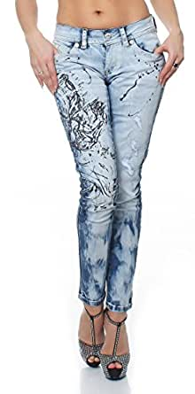 Blue Monkey Damenjeans Damen Jeans Hosen Jeanshosen Laura 3501 L 32 W25