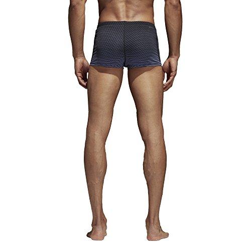 adidas Herren 3-Streifen Graphic Boxer Badehose Raw Indigo/Black