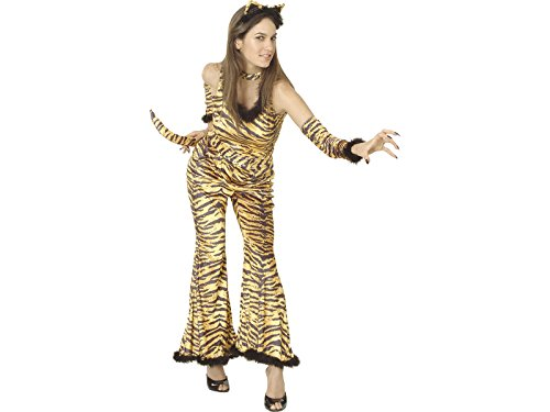 DISONIL Kostüm Wilde Tigerin Frau Größe ()