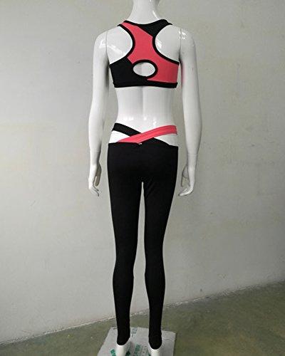 Donne Tute Da Ginnastica Completi Sportivi Casual Senza Maniche Yoga Fitness Pantaloni Come Immagine