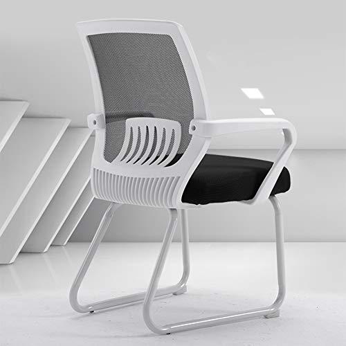 DLIBIG Büro Schreibtisch Stuhl Ergonomischer Stuhl Computer Stuhl Mit Netzrücken Design-Sitzkissen,Armlehne Chefsessel,A