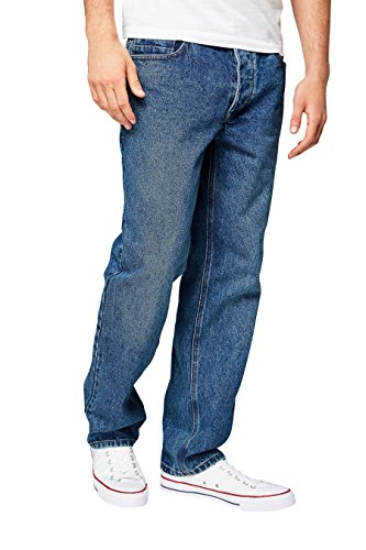 next Herren Jeans Straight Fit Blau