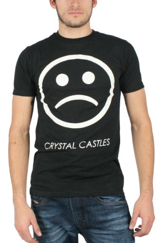 Bristol Crystal (Crystal Castles - - Sad Face Männer Slim Fit T-Shirt in Schwarz, Large, Black)