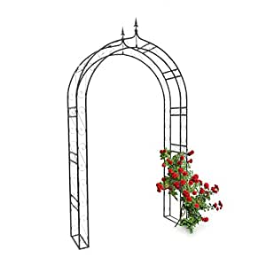 relaxdays rosenbogen mit spitze hbt 242 x 138 x 35 5 cm. Black Bedroom Furniture Sets. Home Design Ideas
