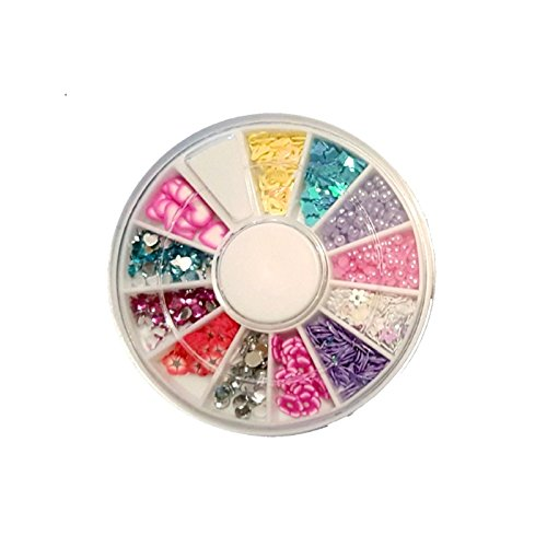 GLAM UP : Carrousel Nail Art - 12 compartiments - Perles Fimo Strass ...