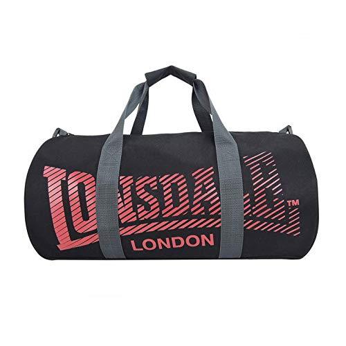 sac de sport lonsdale femme noir et rose