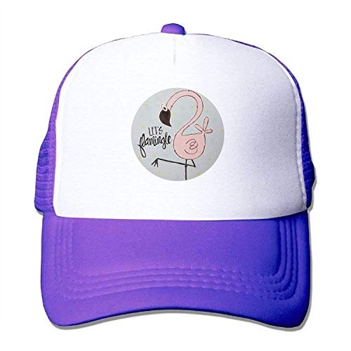 Fashion Baseball Caps Hats Let's Flamingo Unisex Trucker Hat Mesh Cap with Adjustable Snapback Strap Black