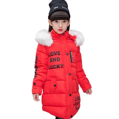 Crazycatz@ Winterjacke für Jungen Daunenmantel Kinder Jungen Steppjacke mit Fellkapuze Verdickte Daunenjacke Outerwear B2017 5