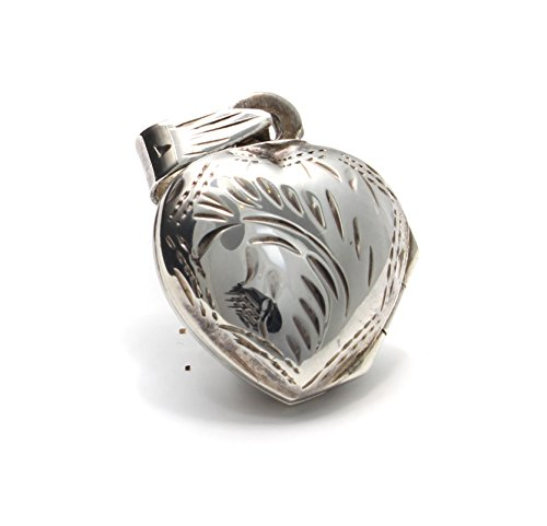 Pequeo-Corazn-Medalln-de-plata-autntico