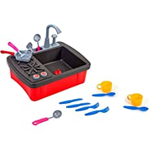 W'TOY - Kit cocina portátil con grifo de bomba y accesorios (GLOBO 37874)