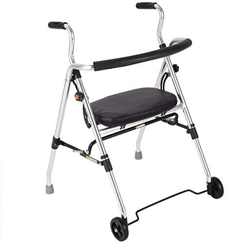 Leggero Rollator Pieghevole a 4 Ruote Telaio da Passeggio con Sedile Carry Bag Freni Carrello Spesa Carrello Spesa per la Mobilità Limitata Borsa Spesa per Il Carrello 56x62x85cm
