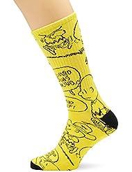 Vans_Apparel Herren Sportsocken Vans X Peanuts Crew (9.5-13, 1p), Gelb (Charlie Brown/Peanuts), Einheitsgröße (Herstellergröße: OS)