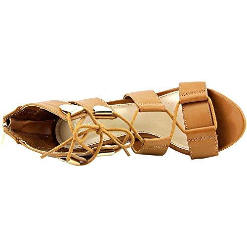 Bar III Sahara Kunstleder Keilabsätze Sandale Dark Tan