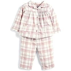 Mamas and Papas Baby Girls' Pink Check Pyjamas Sets, Sgd, 9-12 Months