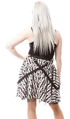 Cupcake Cult Rock mit Trägern DARK CANDY SKIRT Black-White