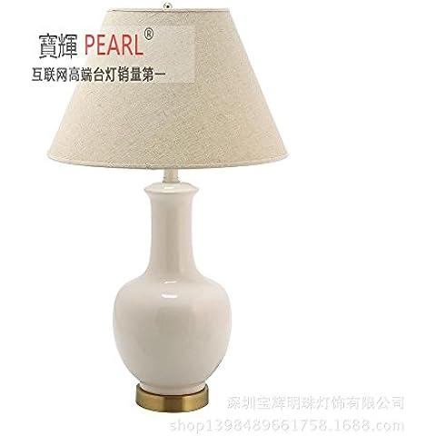 YM@YG Tabella americana lampada continentale tavolo lampada in ceramica Lampade