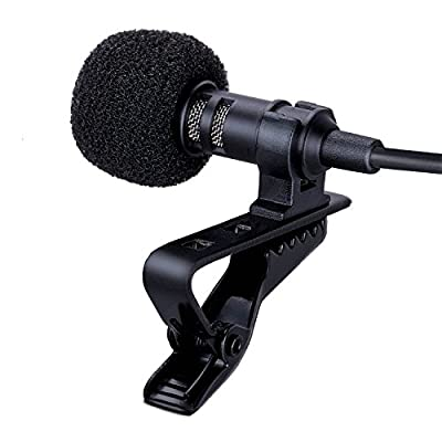FEEMIC Lavalier Microphone, Clip-on Omnidirectional Condenser Lapel Mic, Compatible with Iso Android Smartphones/ Laptops/ Tablets, Perfect for Youtube Podcasting/ Facebook Live/ Livestream Video/ Skype by Elecfly Direct