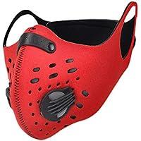 Pretty-jin Bicicleta Máscara Máscara de Deportes se la máscara de Bicicleta es de carbón Activo para Hombres y Mujeres, es Flexible y cómodo y Puede el Nariz y Oído herunterhängende Regular, Rojo