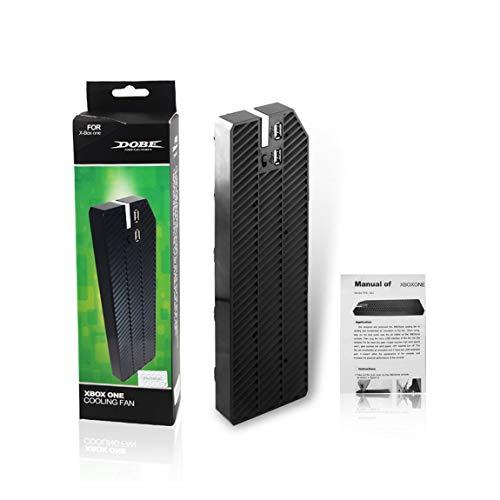 SeniorMar Durable Ultra Lightweight USB-Lüfter Kühler Gerät Kühlung Mount Dock Halter Geeignet für Xbox One Konsole Schwarz (Plug Mount Air)