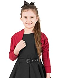 BlackButterfly Enfants Satin Demi Manche Boléro Filles Cardigan 4b5346803a9