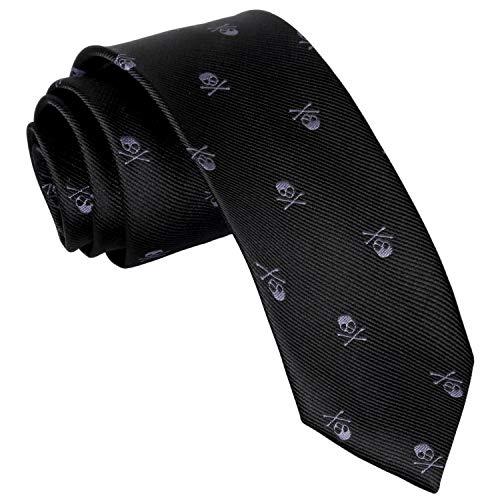 Corbata con forma de calavera de los hombres de Enjoymore 6cm...