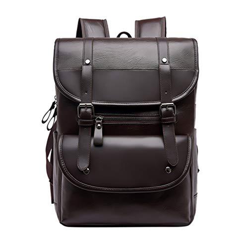 Mitlfuny handbemalte Ledertasche, Schultertasche, Geschenk, Handgefertigte Tasche,Großraum-wasserdichte wilde Studenten-Rucksack-Computer-Tasche der Art- und Weisemänner