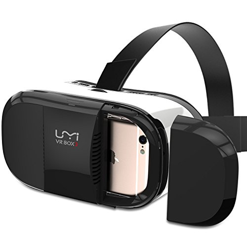 VR Headset UMIDIGI 3D Glasses with Adjustable Lenses/Magnet Trigger/Head Strap for 4~6 Inch Smartphone VR Box for 3D Movies Games Compatible with iPhone, Samsung