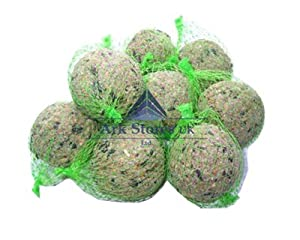 100x WILD BIRD FAT BALLS ENERGY BOOST SUET DUMPLINGS 90G BALL - IN NETS - 100 X 90G by WALTER HARRISON
