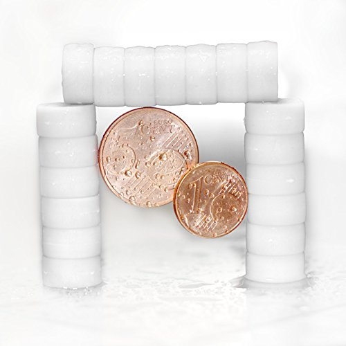 20 weiße Magnete - EXTRA STARK Neodym gummierte Schutzschicht (ø12x6mm) | einzigartig | starke neodym Magnete für Magnettafel, Whiteboard, Glasmagnettafel und als Kühlschrankmagnete