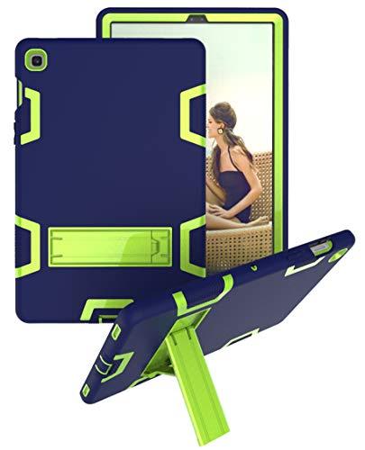 Yoagoal Hülle für Galaxy Tab S5E, Dual Layer Shockproof Hybrid Schutzhülle mit Ständer Case Cover für Samsung Galaxy Tab S5E 10.5 T720 T725, Blue&Green
